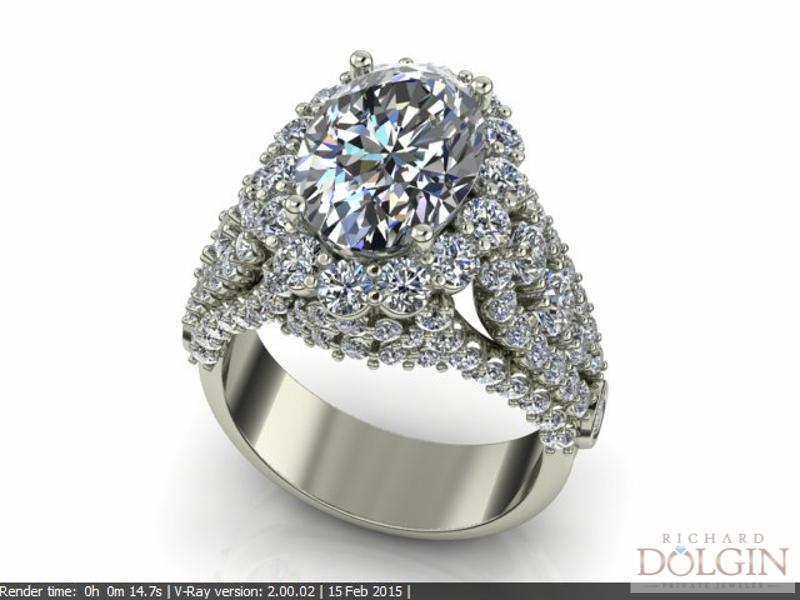 CAD/CAM Rendering of Ring Design