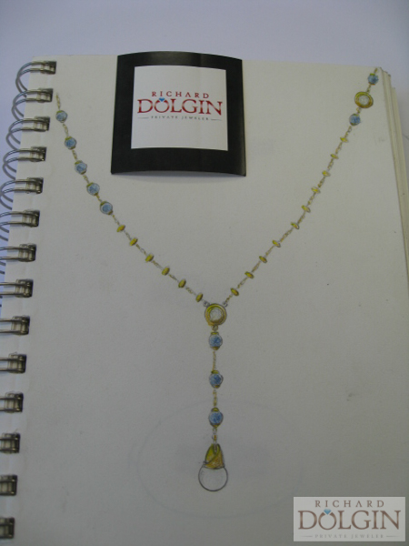 Custom necklace design featuring cultured pearl