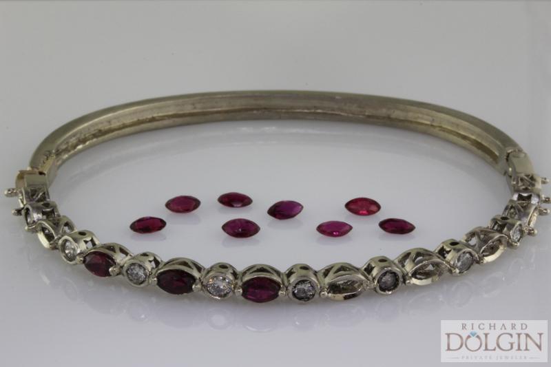 Ruby Hinged Bracelet