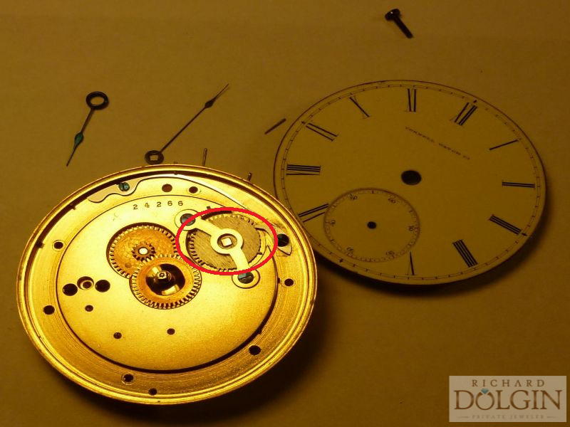 Broken pocket watch gear