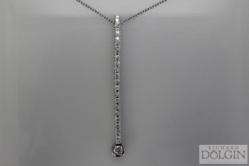 Diamond stick pendant