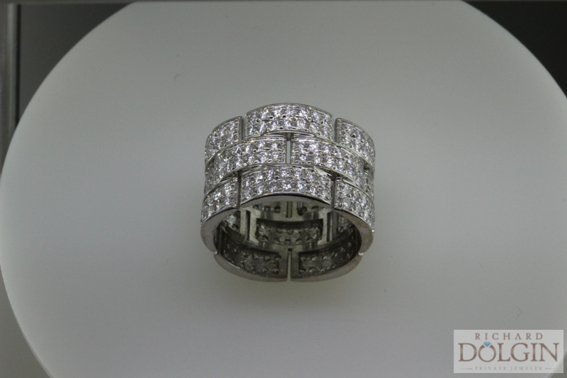 18k white gold fashion band