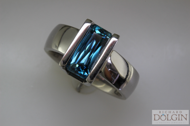 Spectacular scissor cut blue zircon