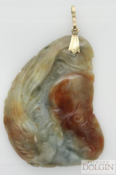 Spectacular Jade carved pendant
