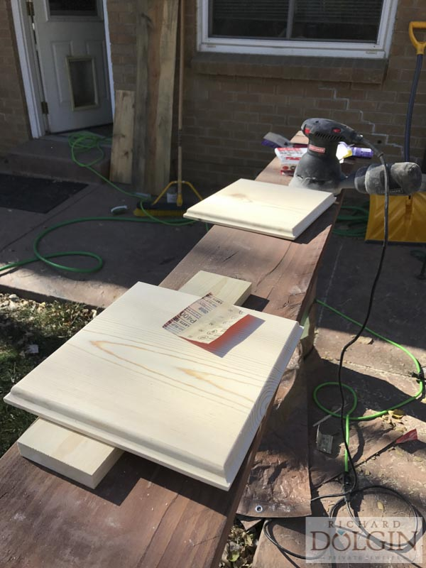 Sanding wooden picture frames