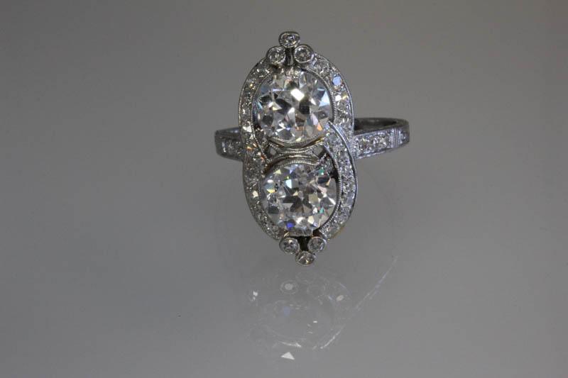 Antique two diamond ring