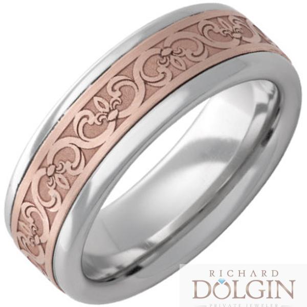 Serinium copper inlaid band