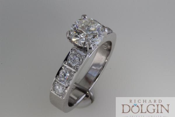 Bright set engagement ring