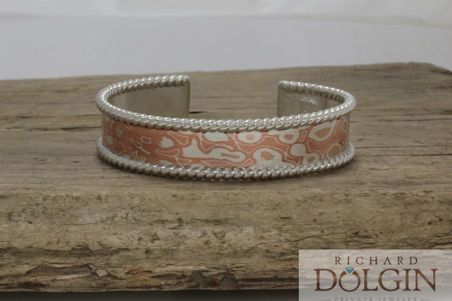 Medium width Mokume Gane bracelet
