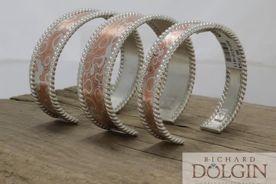 Mokume Gane bracelet collection