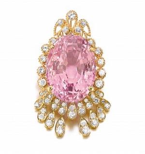95.45 ct pink Ceylonese sapphire