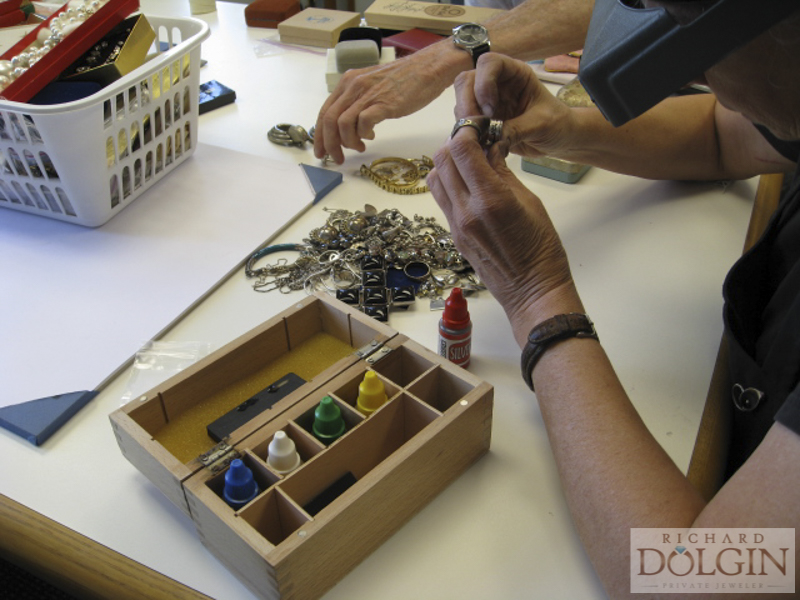 Gold testing in our jewelry studio