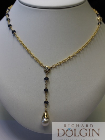 Pearl Y station necklace
