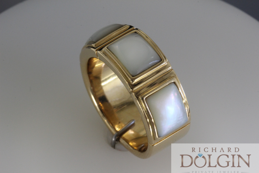Designer Mother of Pearl Ring