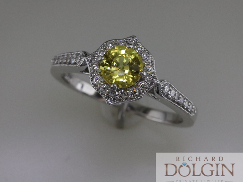 Lemon Colored Sapphire Ring