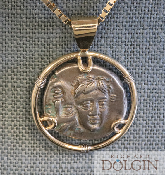 Pendant Featuring Greek Drachma