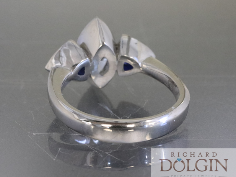 Finished wedding ring - back view