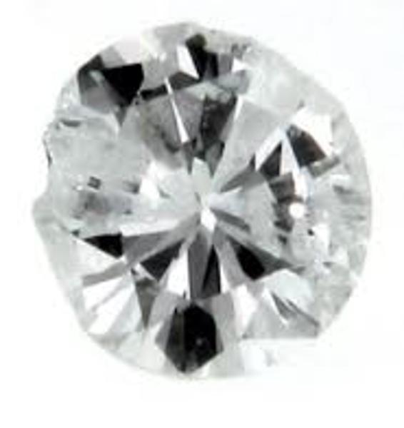 Chipped round diamond