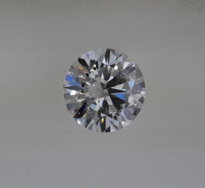 Round ideal cut diamond