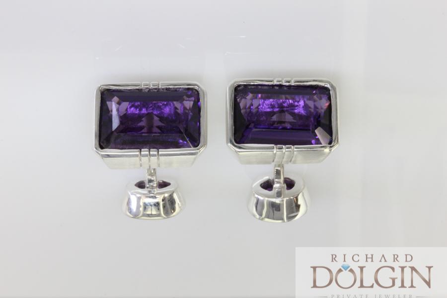 Amethyst Custom Made Cufflinks