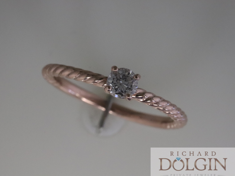 New Rose Gold Engagement Ring