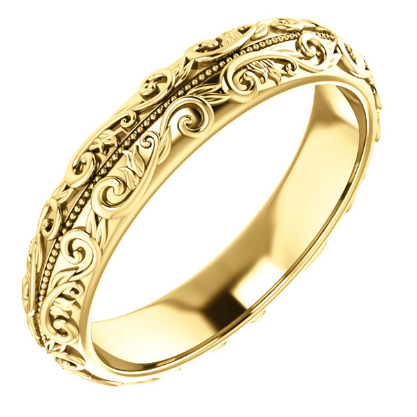 New Yellow Gold Band