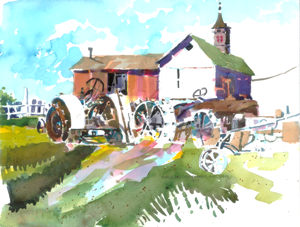 Rest Stop 2014 Finger Lakes Plein Air Competition Honorable Mention Award