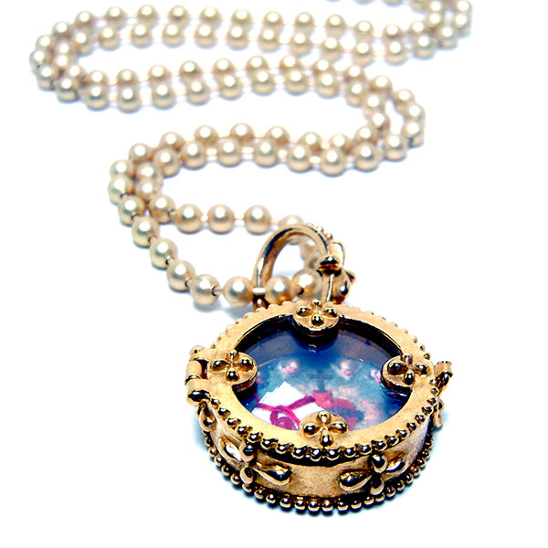 """  Sofia"" Fortuno Locket $67 for Valentine's Day Promo."