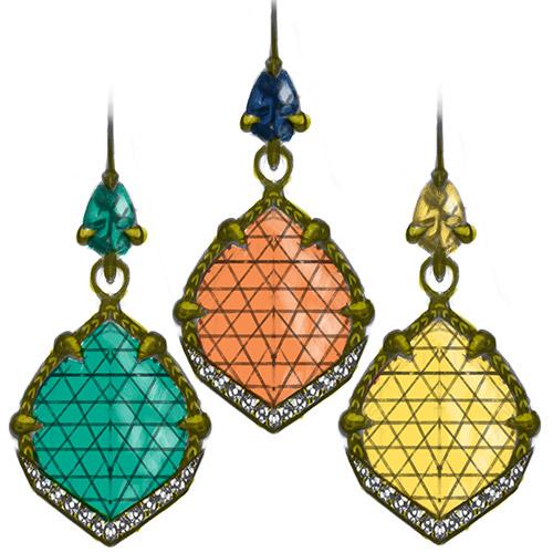 Jordan earrings in spring colors.