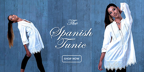 Shop this beautiful new collection of handmade lace shirts, blouses & tunics on our sister website - www.SaintEstate.com!