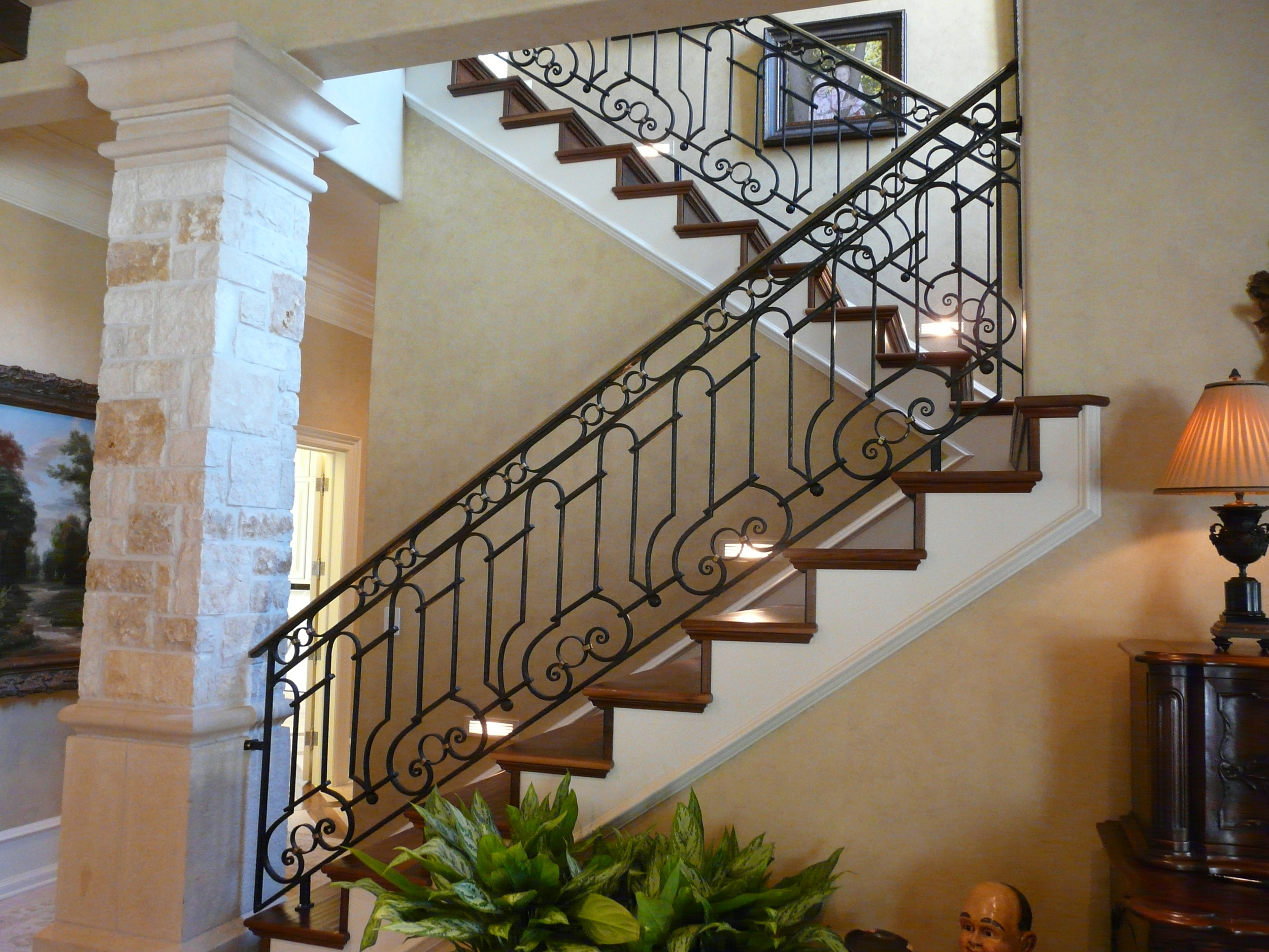 Slit and Drifted Staircase Railing