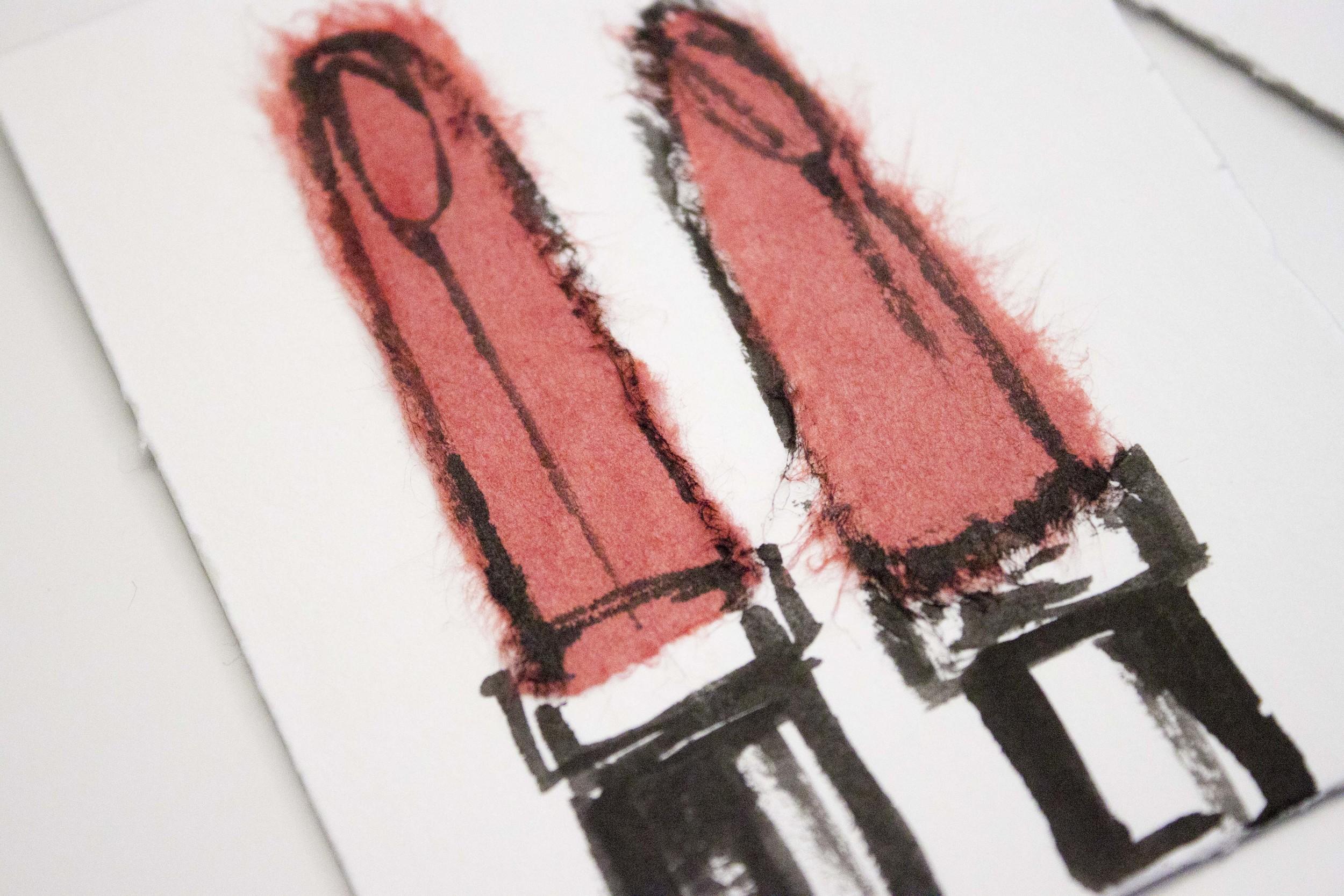 Lipstick Illustration by Victoria-Riza