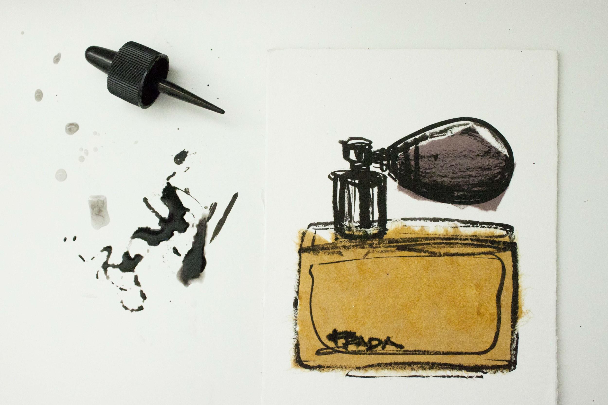 Prada Perfume illustrated by Victoria-Riza