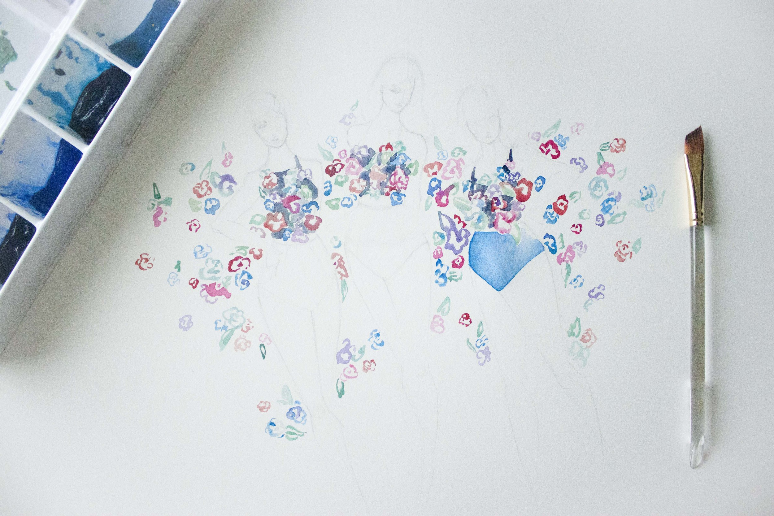 Kortni Jeane Poppies Swimsuit illustrated by Victoria-Riza