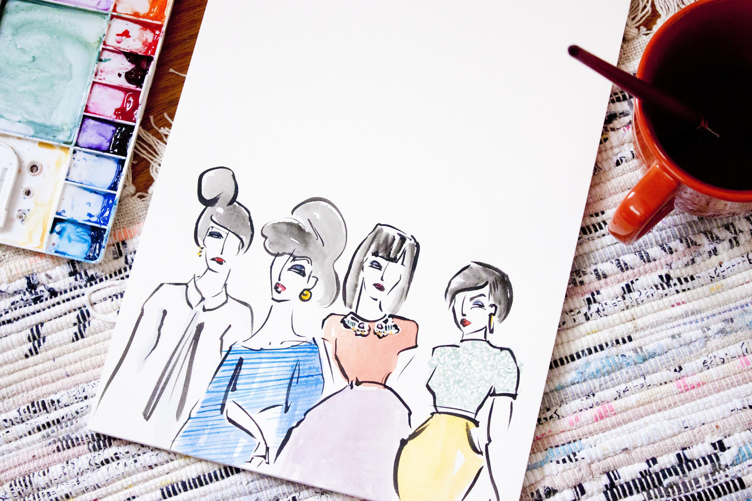 Victoria-Riza Fashion Illustrator | New Year's Eve