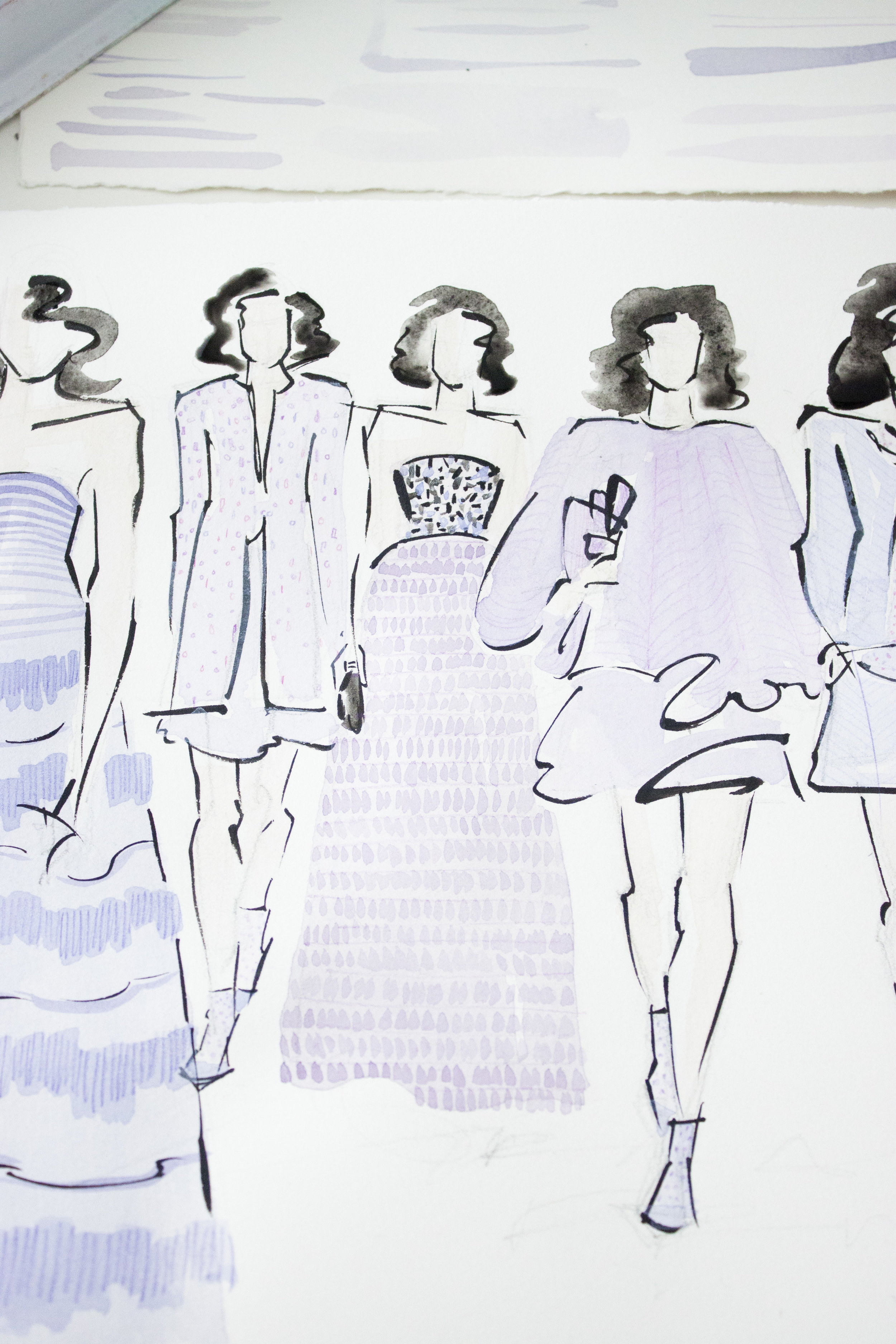 Victoria-Riza | Fashion Illustrator | Paris Fashion Week | Armani Spring Couture 2016