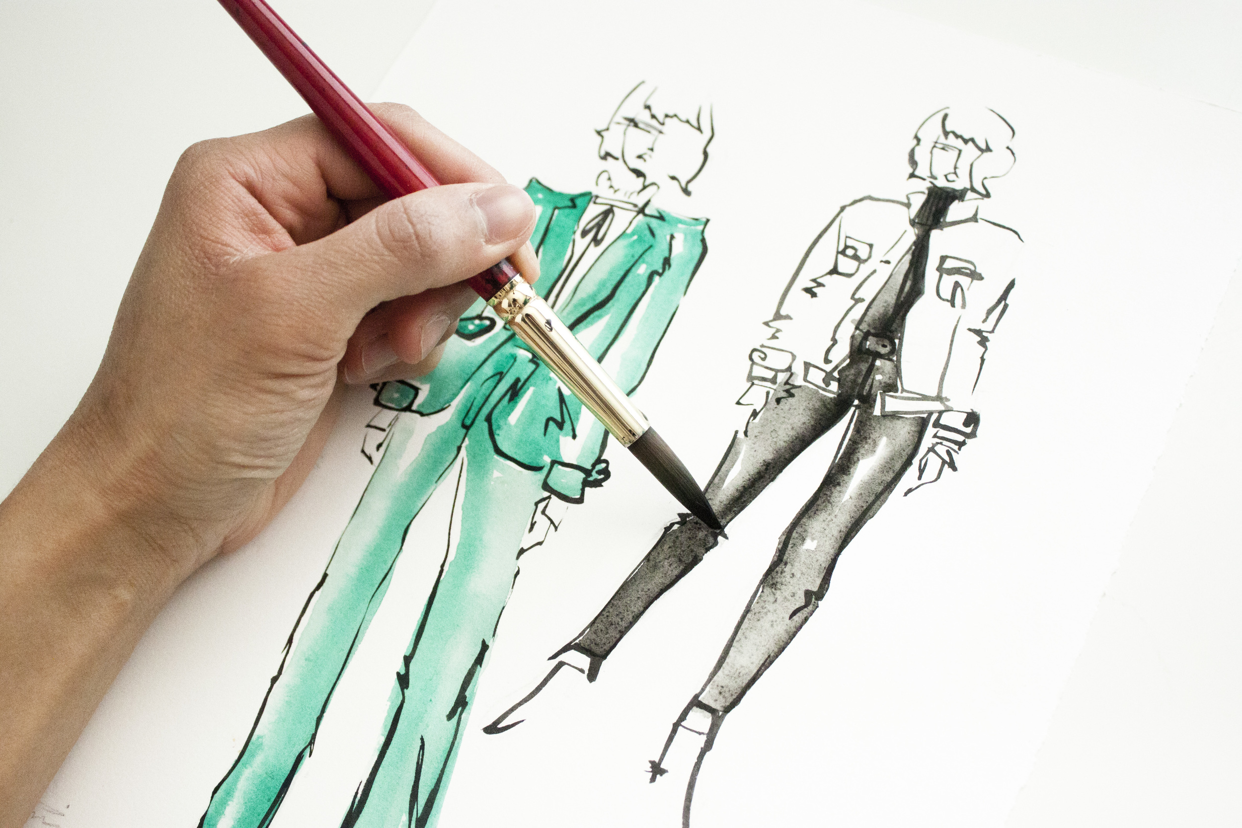 Victoria-Riza Fashion Illustrator | Frame Denim Fall 2016 RTW