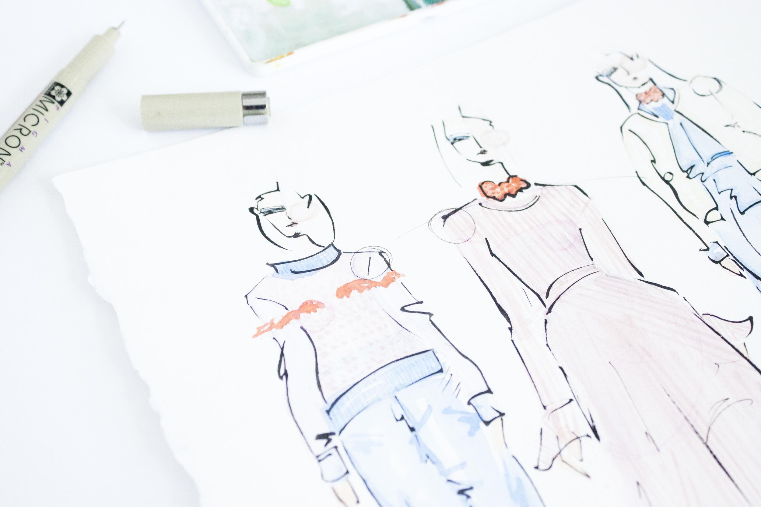 Victoria-Riza Fashion Illustrator | Anna October | Kiev Fall 2016