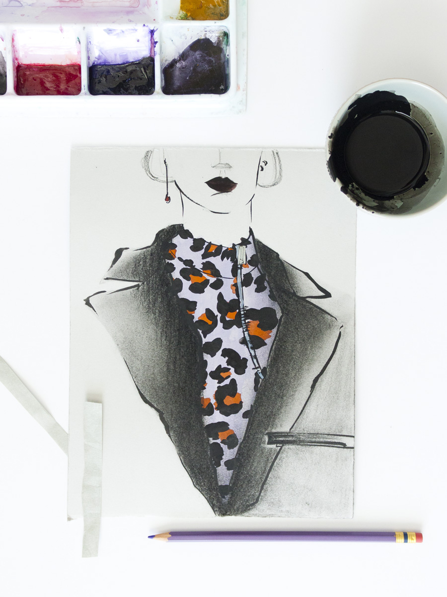 Victoria-Riza Fashion Illustrator | Christian Dior Fall 2016 RTW