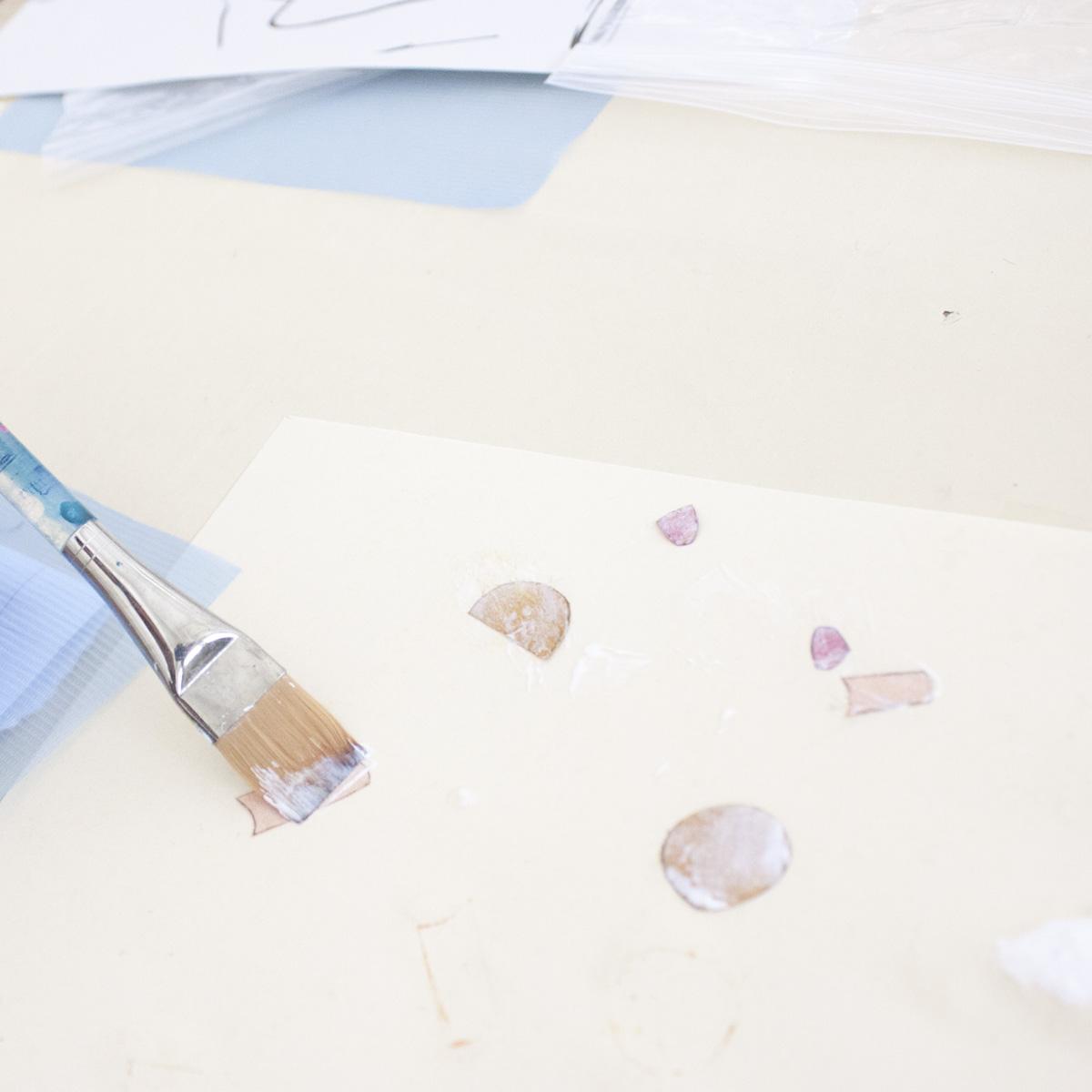 Victoria-Riza Fashion Illustrator | Printmaking | Prepping Chine Cole