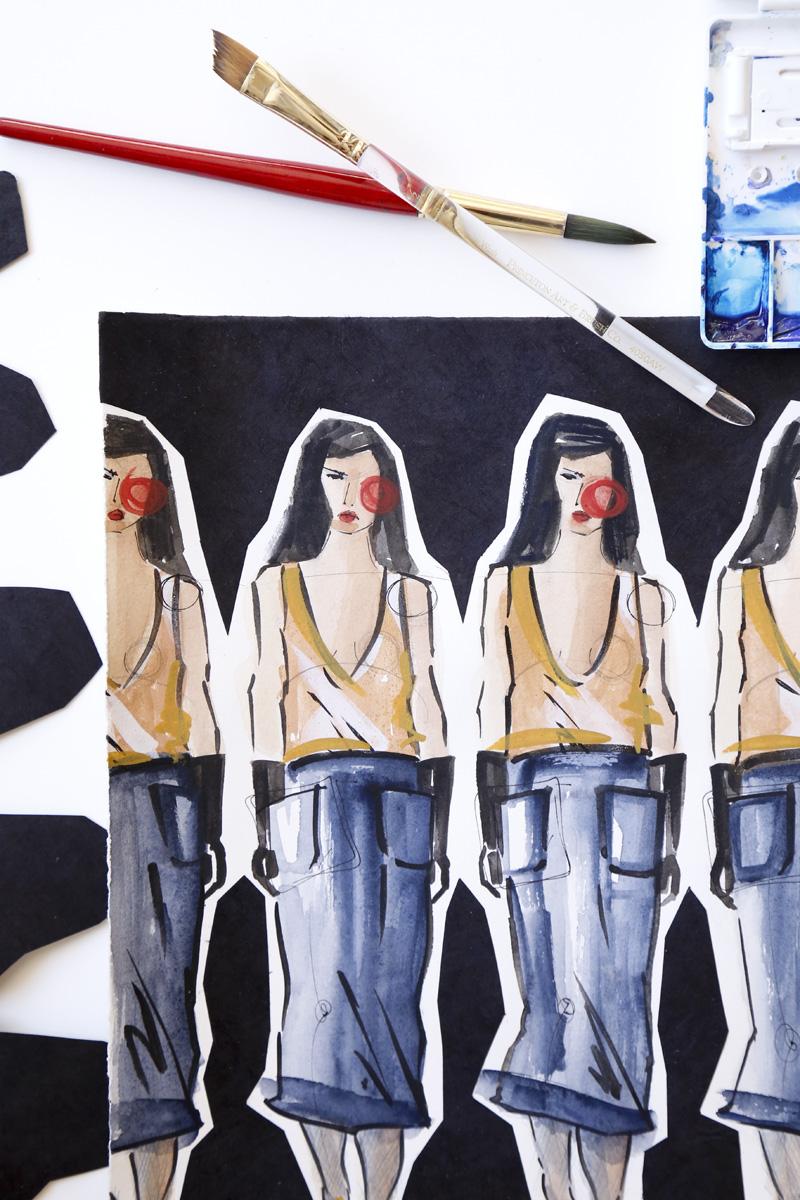 Victoria-Riza | Fashion Illustrator | Max Mara Fall 2016 RTW