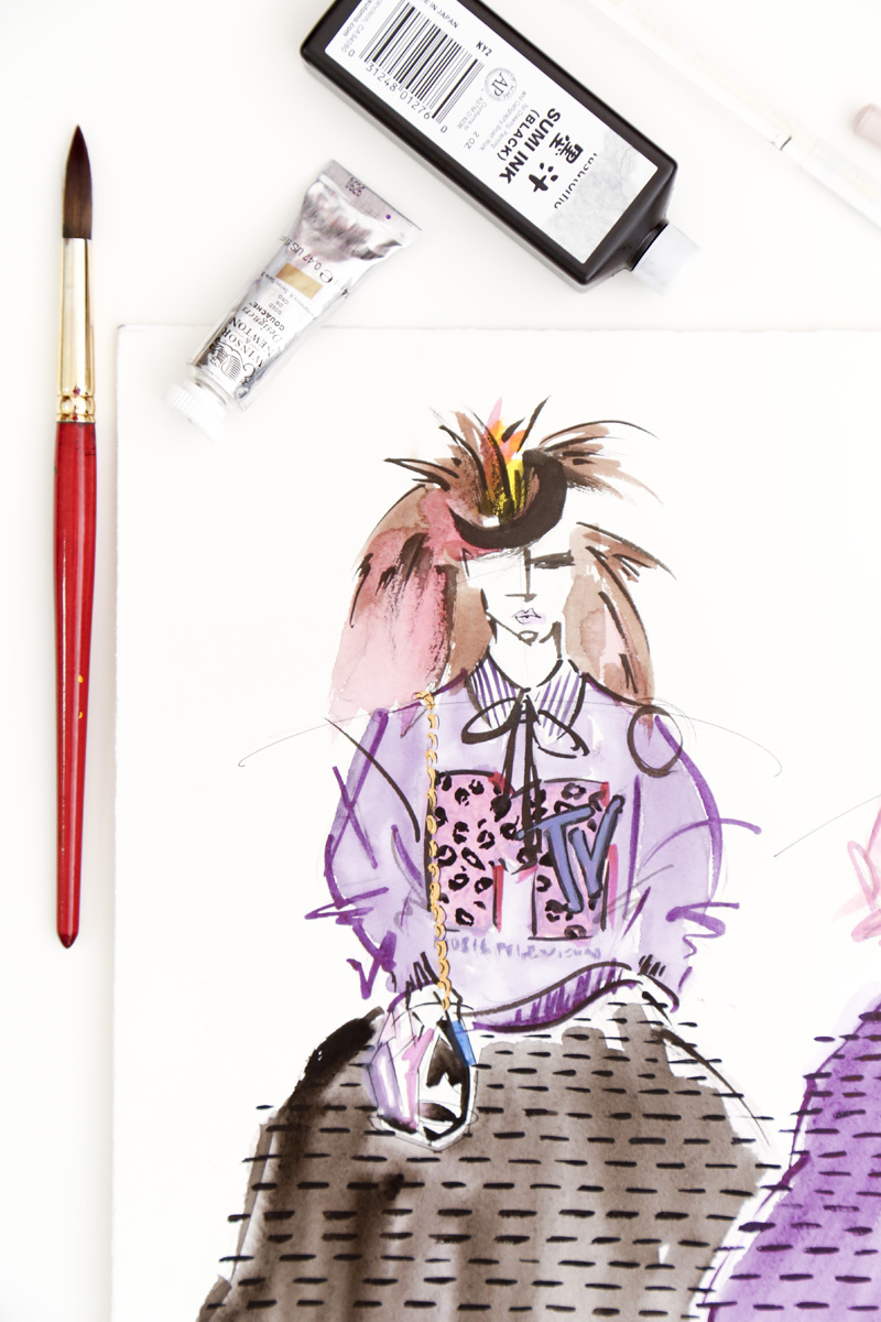 Victoria-Riza | Fashion Illustration | Marc Jacobs Resort 2017