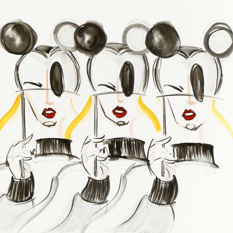 Victoria-Riza   Fashion Illustrator   Disney X Coach