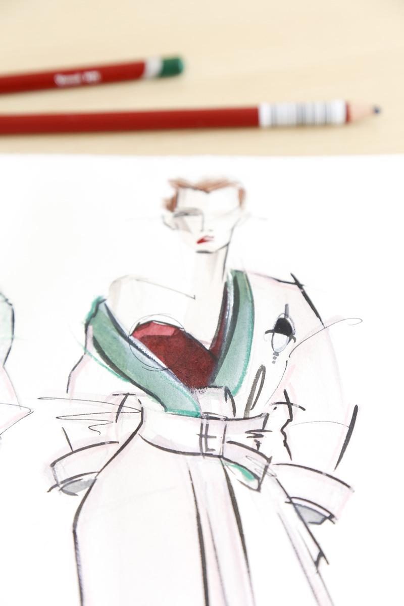 Victoria-Riza | Fashion Illustrator | Atelier Versace Couture Fall 2016