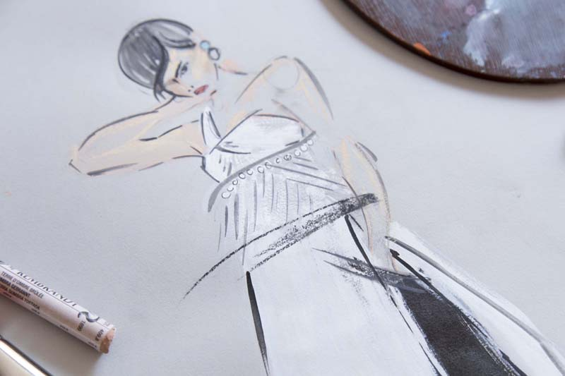 Victoria-Riza | Fashion Illustrator | Givency Couture Fall 2016