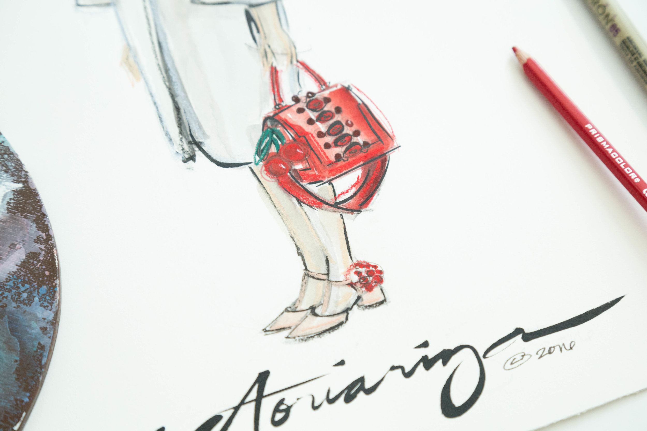 Victoria-Riza | Fashion Illustrator | Anya Hindmarch Spring 2017 RTW