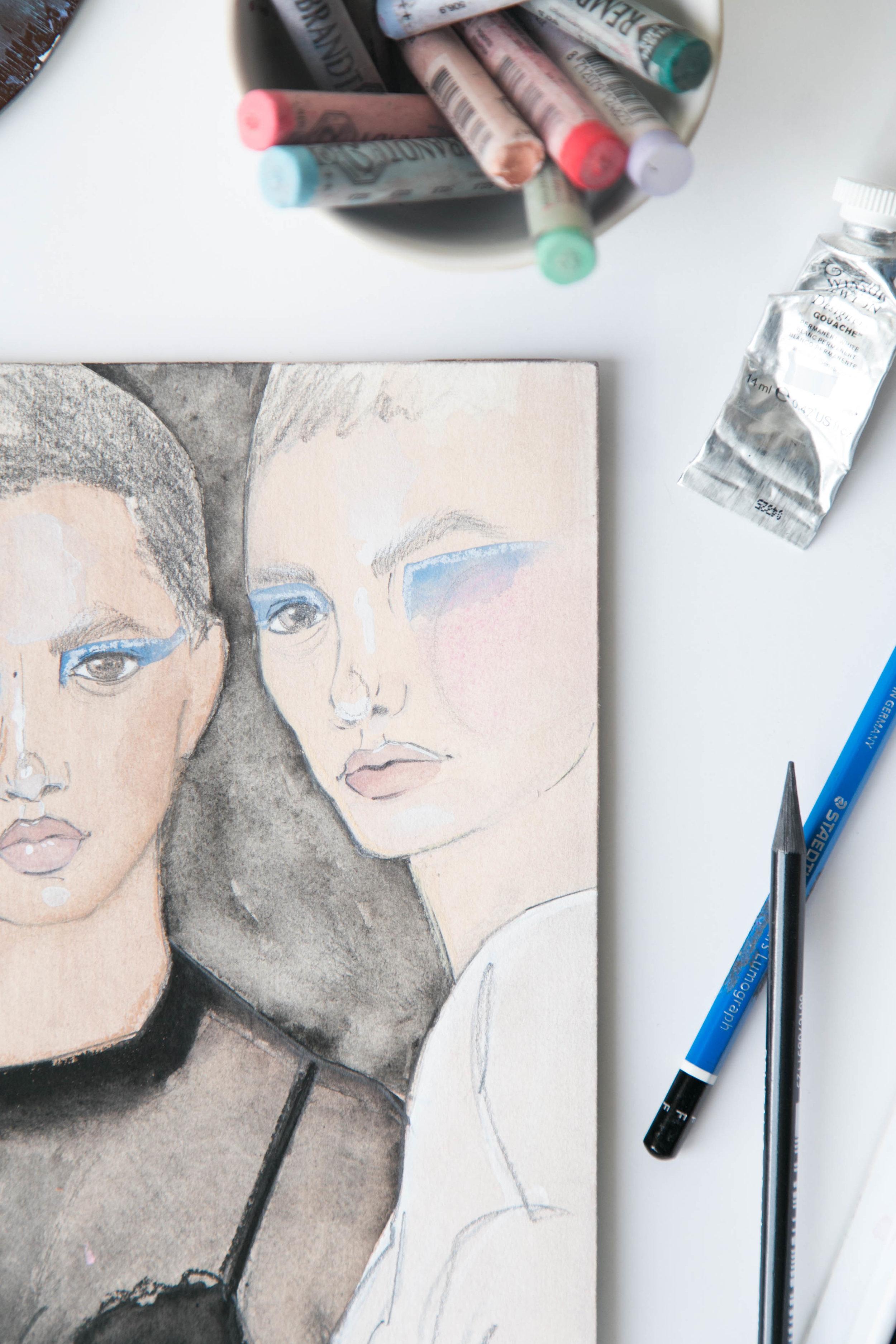 Victoria-Riza | Fashion Illustration | Atelier Versace Fall 2016 Couture