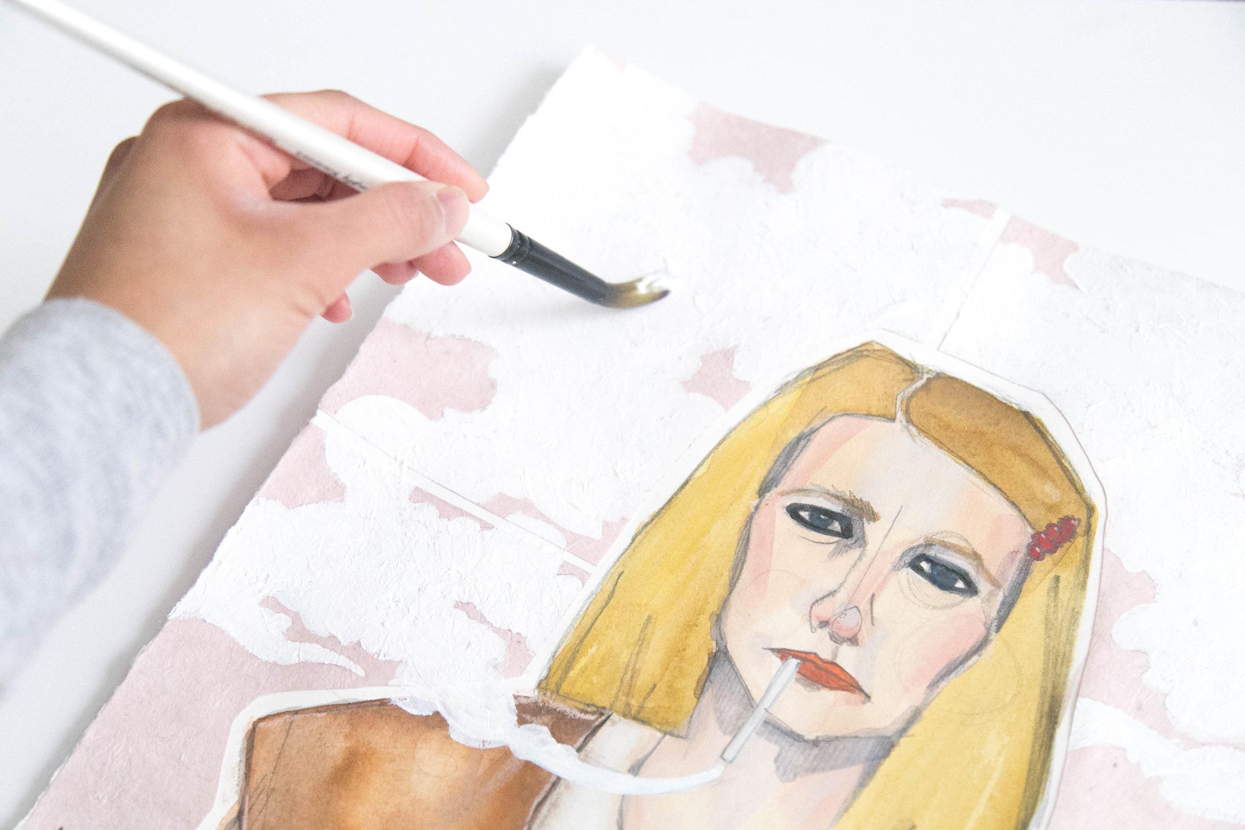 Victoria-Riza | Fashion Illustrator | Fashion in Movies | Margot Tenenbaum of The Royal Tenenbaums