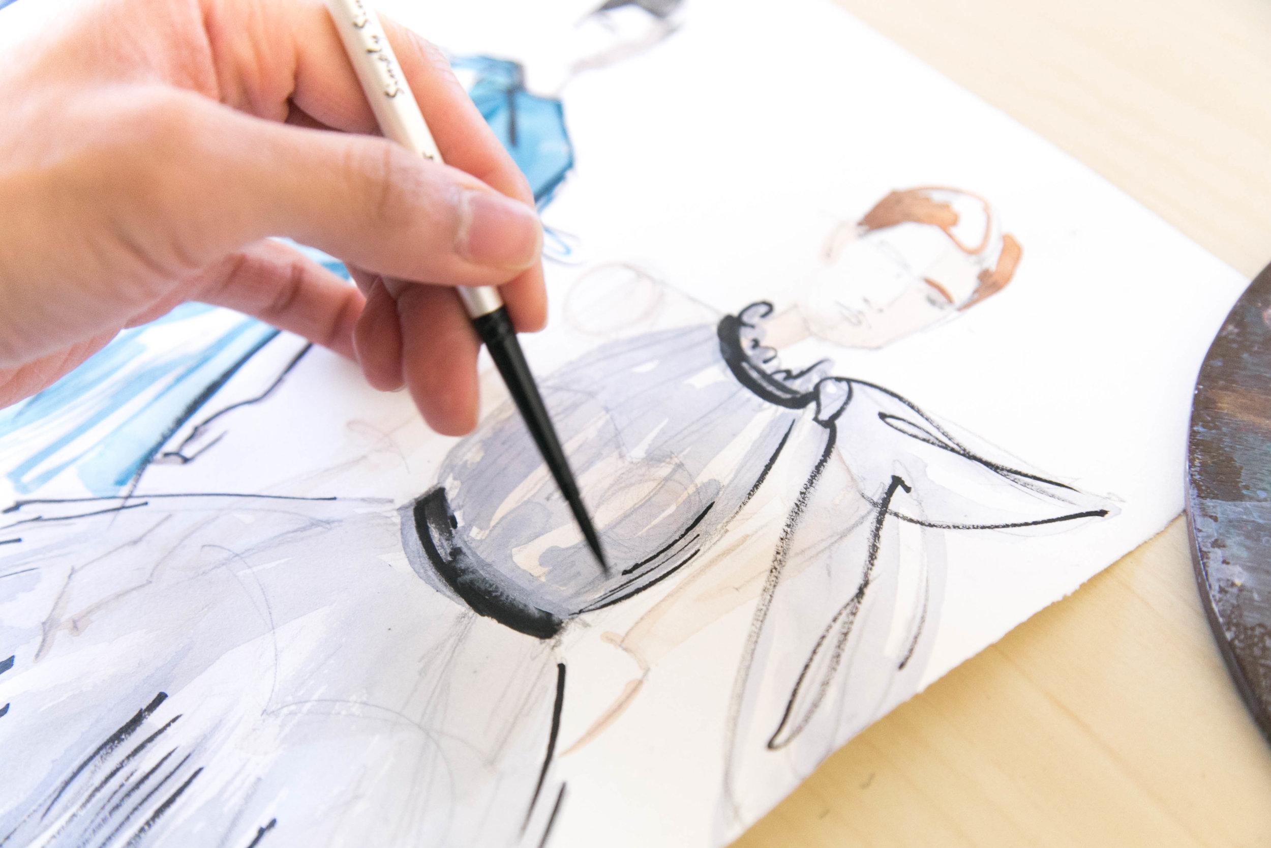Victoria-Riza Fashion Illustrator | Carolina Herrera Fall 2017 RTW