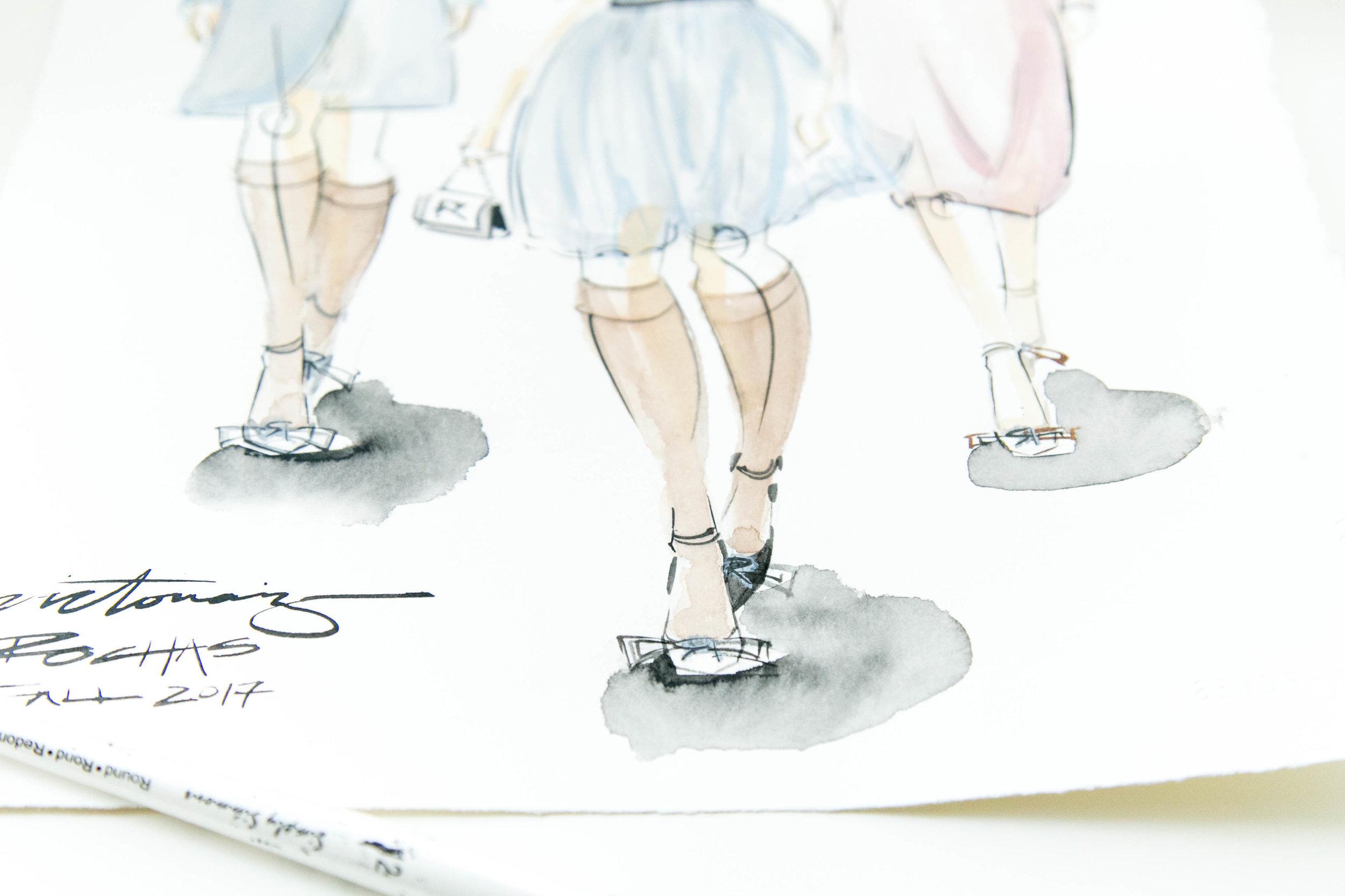Victoria-Riza Fashion Illustrator   Rochas Fall 2017 RTW